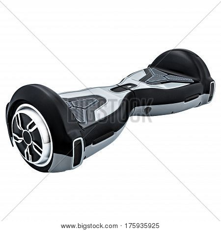 Black hover board, on a White Background