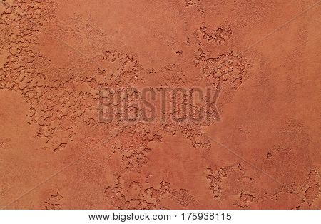 Beautiful texture of brown. Dried painted clay