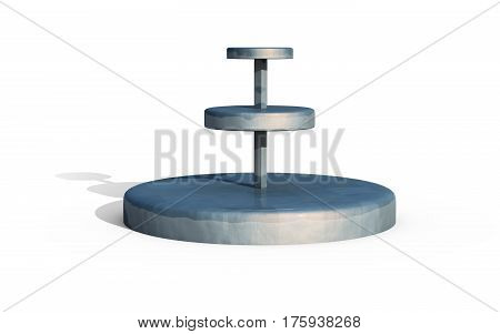 Three Tiers Of Round Stand Metal