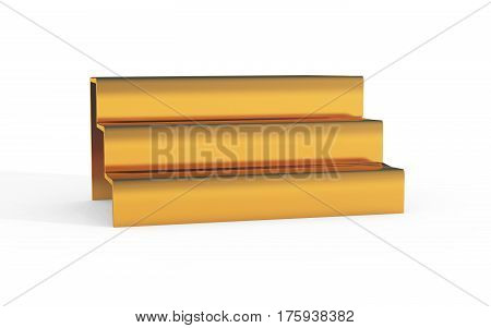 Gold Stairs Of Display Stand