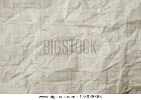 Texture of white crumpled paper for background