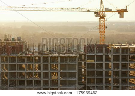 Construction of a residential house of concrete