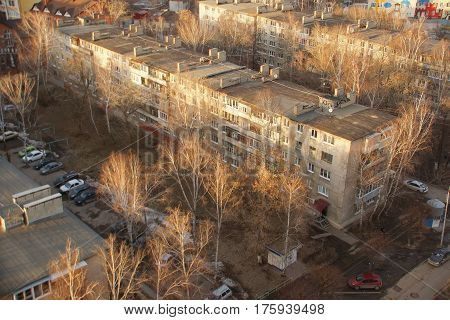 Khrushchev House of the USSR. 60 years old houses.