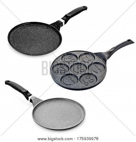 Pan, saucepan isolated on a white background