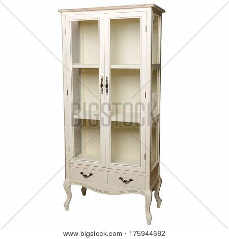 Closet, bedside table, furniture, on isolated white background