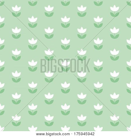 pale color Holland tulip repeatable motif. simple laconic vector illustration design. seamless background for wrapping paper or fabric