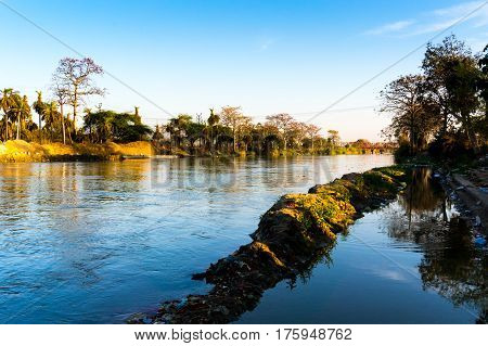 Streams of the river ganga near delhi. These beautiful streams are some of hte most holy sites for hinduism