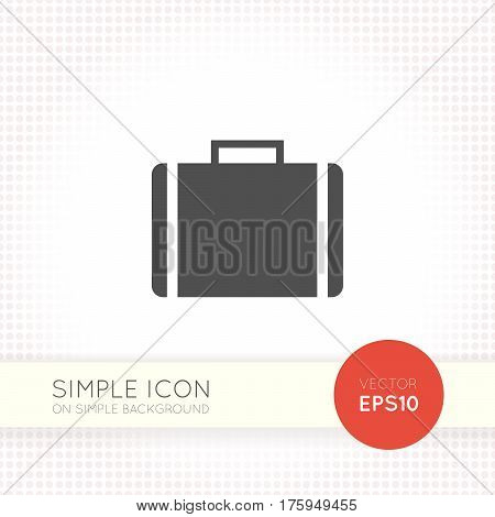 Flat design vector briefcase icon. Minimalistic graphic element for user interface of website and application. Case symbol isolated on simple light background. Case icon shapes.