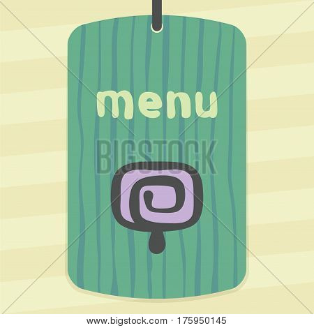 Vector outline fruit ice cream lolly food icon on label with hand drawn striped background. Elements for mobile concepts and web apps. Modern infographic logo and pictogram.