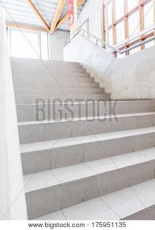 in a modern building is there an beautiful staircase