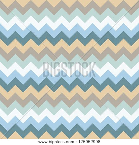 Chevron pattern seamless vector arrows geometric design colorful pastel white aqua light and naval blue beige brown