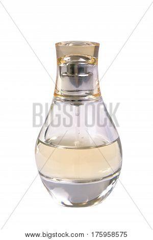 The parfume bottle isolated on white background