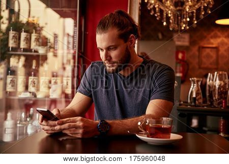 Professional Young Man In A Bar