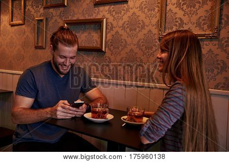 Dating Young Couple In A Bar