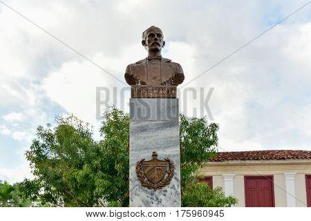 Jose de Marti Monument in Vinales Cuba.