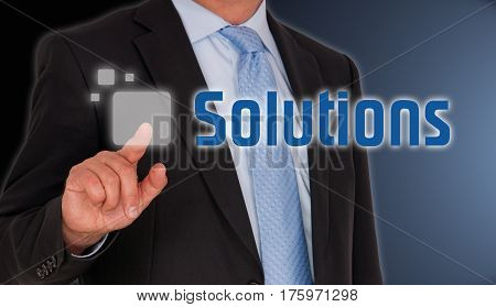 Business Solutions - Manager with touchscreen button