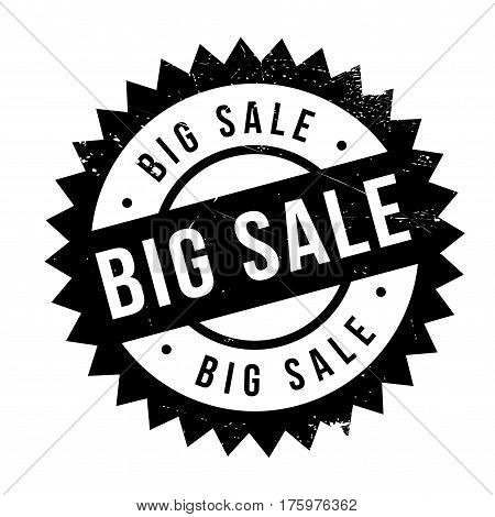 Big sale stamp. Grunge design with dust scratches. Effects can be easily removed for a clean, crisp look. Color is easily changed.