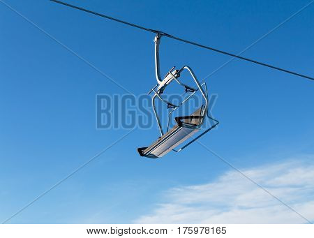 Ski Lift and Scenic Ski Resort Winter Season