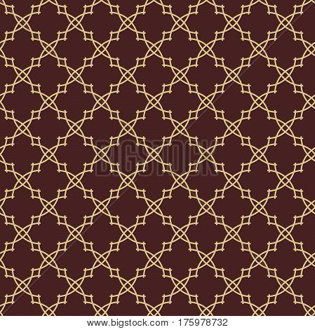Seamless ornament in arabian style. Golden pattern for wallpapers and backgrounds