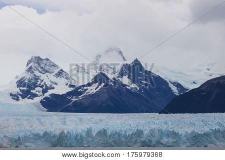 Glacier Perito Moreno in Argentine Patagonia .