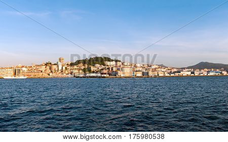 A view of Vigo from the sea (Galicia Spain)