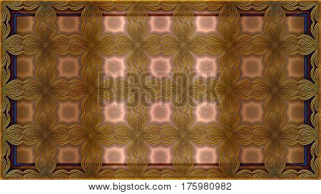 Background color bronze with gold patterns can be used in the design of your site design textile printing industry in a variety of design projects