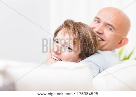 Attractive Happy Friendly Middle-aged Couple