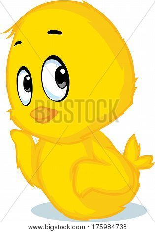 cute chicken cartoon - vector illustration isolated