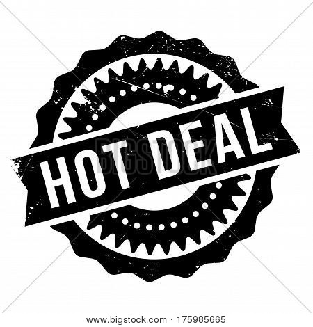 Hot deal stamp. Grunge design with dust scratches. Effects can be easily removed for a clean, crisp look. Color is easily changed.