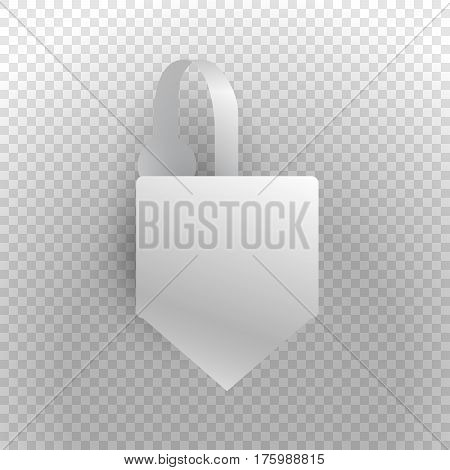 Shelf wobbler discount label mockup with strip isolated on transparent background sale and best seller tag for product sale in shop best price special offer realistic design vector illustration
