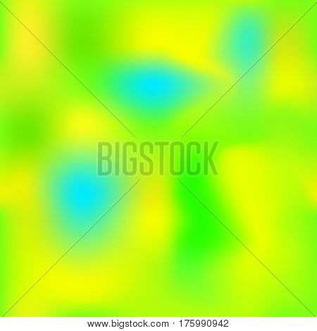 Summer gradient mesh with yellow blue green colors. Bright colored square vector background. Neon colors mesh. Colorful seamless pattern tile. Bright colored seamless background swatch