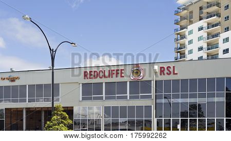 REDCLIFFE, AUSTRALIA - February 28, 2017: View of the RSL Club in Redcliffe Australia.