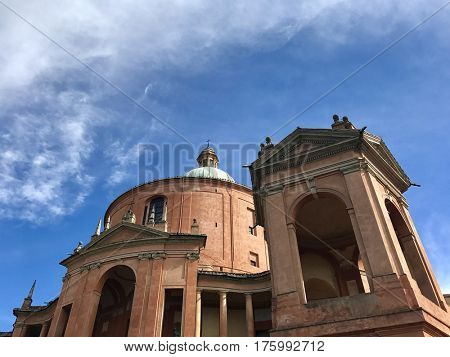 BOLOGNA - MARCH 7, 2017: Santuario Madonna di San Luca basilica church in Bologna, Italy.