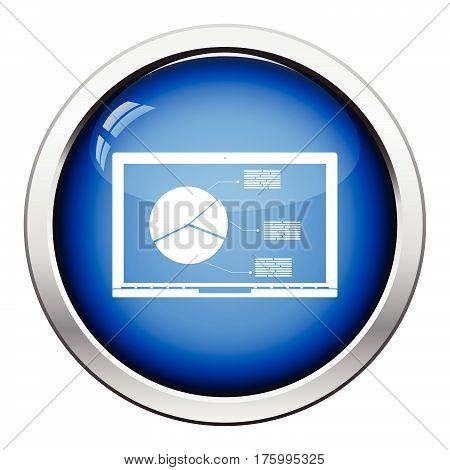 Laptop With Analytics Diagram Icon