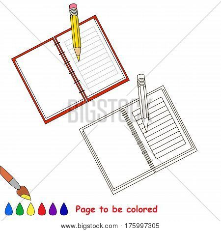 Copybook to be colored, the coloring book to educate preschool kids with easy kid educational gaming and primary education of simple game level.