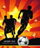 Soccer Action player. Team on beautiful Abstract Background. Original Vector illustration sports series. Abstract Classical football poster. poster