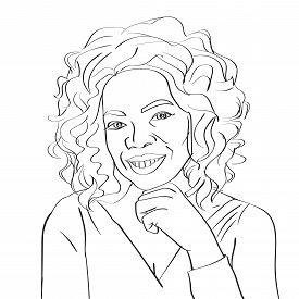 12 Mar 2017: Vector portrait of famous TV host Oprah Winfrey.