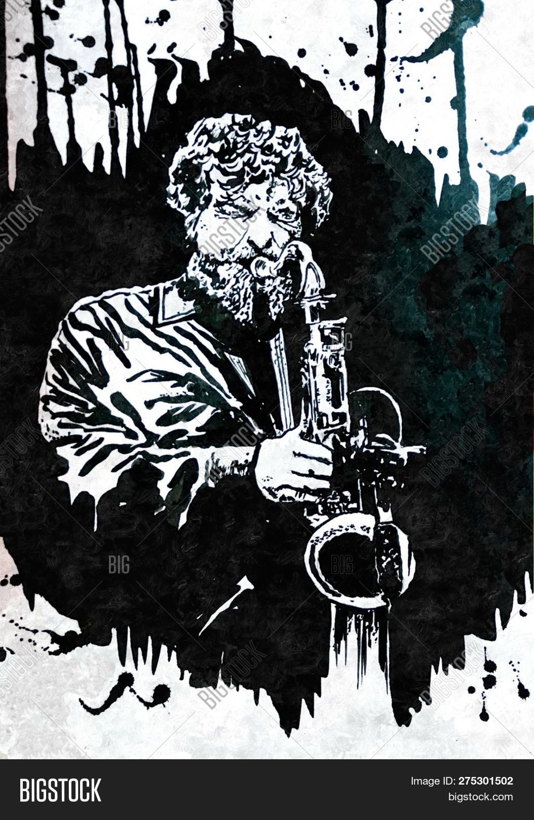Saxophonist Jazz Band Image Photo Free Trial Bigstock