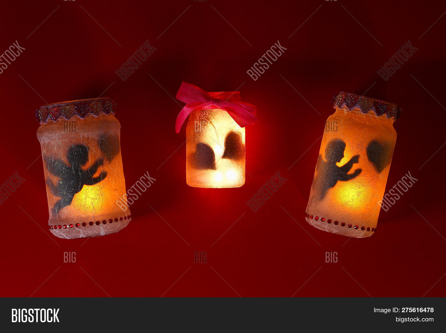 Diy Fairy Jar On Red Image Photo Free Trial Bigstock