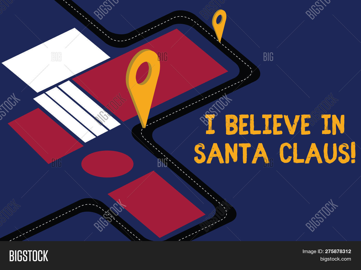 I Believe In Christmas.Writing Note Showing Image Photo Free Trial Bigstock