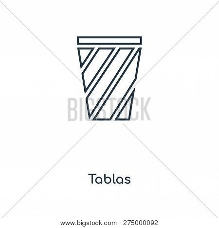 Tablas Icon In Trendy Design Style. Tablas Icon Isolated On White Background. Tablas Vector Icon Sim