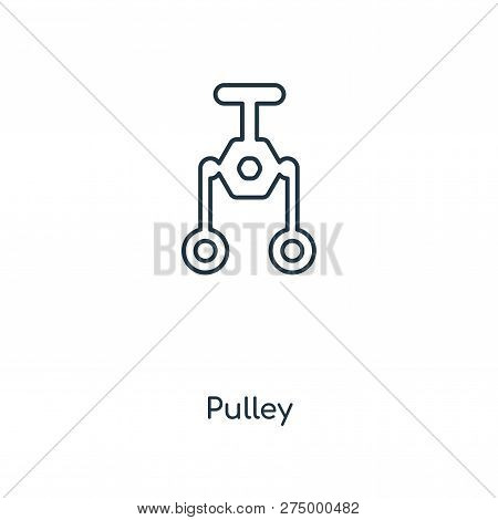 Pulley Icon In Trendy Design Style. Pulley Icon Isolated On White Background. Pulley Vector Icon Sim
