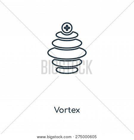 Vortex Icon In Trendy Design Style. Vortex Icon Isolated On White Background. Vortex Vector Icon Sim