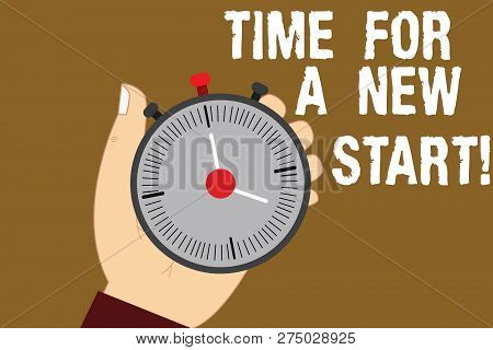 Conceptual Hand Writing Showing Time For A New Start. Business Photo Text Trust The Magic Of Beginni