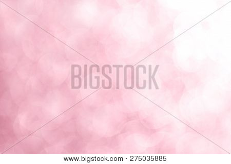 Bokeh Pink White Soft Glittering Light Shine, Pink Sparkling Luxury Grand Bright For Background Cosm