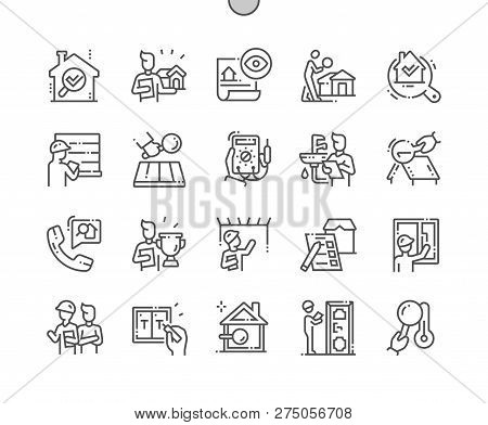 Home Inspections Well-crafted Pixel Perfect Vector Thin Line Icons 30 2x Grid For Web Graphics And A