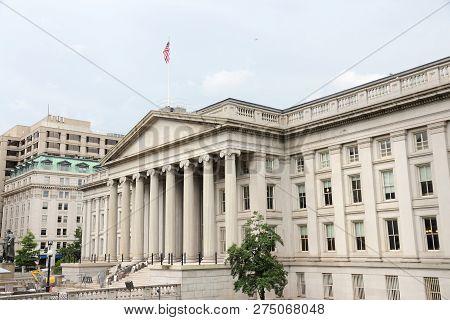 Us Treasury Department Building. Washington Dc, Capital City Of The United States.