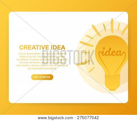 Creative Idea For Website Banner And Landing Page. Vector Stock Illustration.