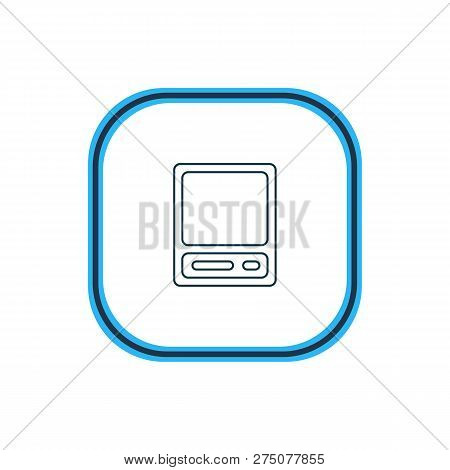 Vector Illustration Of Vintage Computer Icon Line. Beautiful Notebook Element Also Can Be Used As Pd
