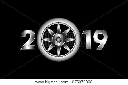 2019 Design Concept,  New Year 2019, 2019 New Years Image  Happy New Year 2019, Gold 2019, Creative